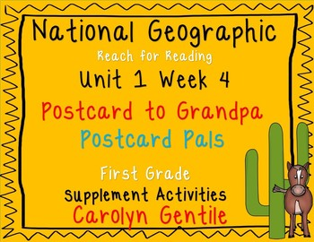 National Geographic Unit 1 Week 4 First Grade Postcard to Grandpa  Postcard Pals