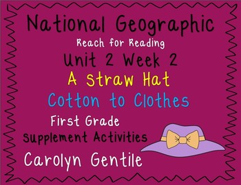 National Geographic Unit 2 Week 2  First Grade A Straw Hat   Cotton to Clothes