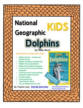 National Geographic Kids Dolphins {Nonfiction Comprehension Guide}