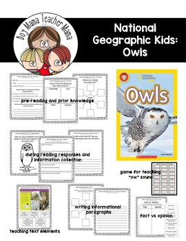 National Geographic for Kids: Owls Reading Guide