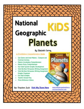 National Geographic Kids Planets {Nonfiction Comprehension Guide}