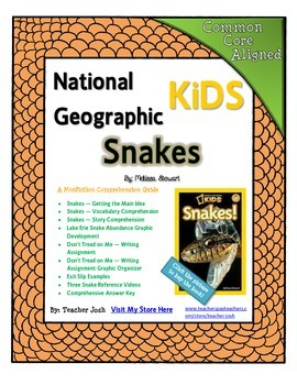 National Geographic Kids Snakes {Nonfiction Comprehension Guide}