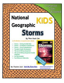 National Geographic Kids Storms {Nonfiction Comprehension Guide}