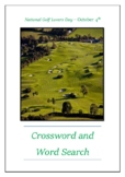 National Golf Lovers Day - October 4th Crossword Puzzle Word Search Bell Ringer