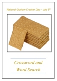 National Graham Cracker Day - July 5th Crossword Puzzle Word Search Bell Ringer