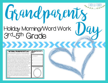 National Grandparents Day Morning/Word Work
