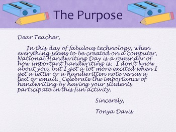 National Handwriting Day:  January 23