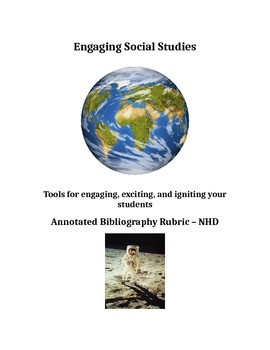 National History Day - Annotated bibliography formative rubric
