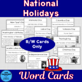 National Holiday Cards B/W