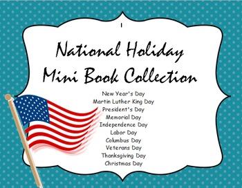 National Holiday Mini Books