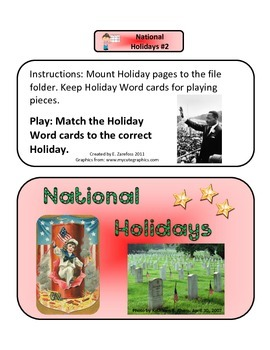 National Holidays #2: File Folder