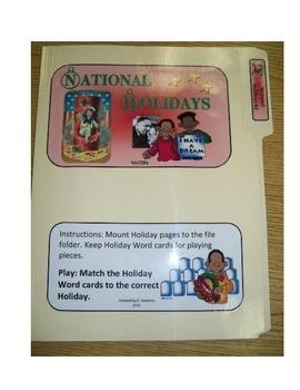National Holidays #2: File Folder