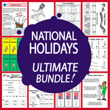National Holidays Math & Literacy MEGA Bundle (12 American