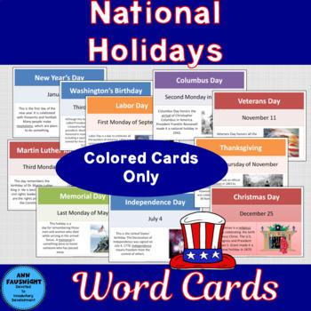 National Holidays Cards