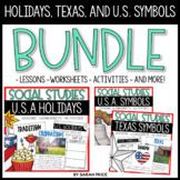 National Holidays US Celebrations TX and US Symbols Worksh
