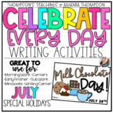 National Holidays | Writing Activities | JULY