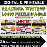 Literacy Centers 4th, 5th, 6th Grade | BUNDLE | Reading |