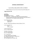 National Honor Society Chapter Activities and Requirements