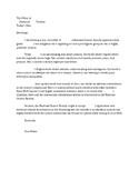 National Honors Society Recommendation Letter NHS Generic All Subjects