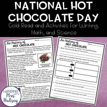 National Hot Chocolate Day Close Read & Other Activities