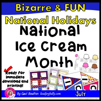 National Ice Cream Month (July)