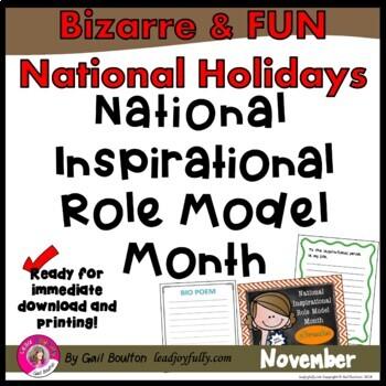 National Inspirational Role Model Month (November)