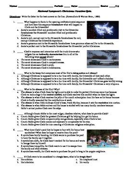 national lampoons christmas vacation film 1989 multiple choice quiz - National Lampoons Christmas Vacation Trivia