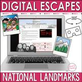 National Landmarks | DIGITAL ESCAPE ROOM | Distance Learning
