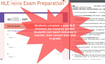 National Latin Exam 3-4 Prose : 18 Self-Grading Answer Forms (2001-18)
