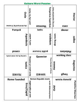 National Latin Exam Term Puzzles
