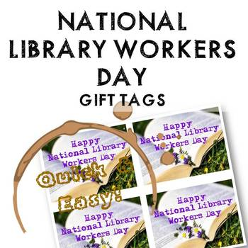 National Library Workers Day Gift Tags