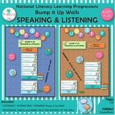 National Literacy Learning Progressions  SPEAKING & LISTENING Bump it Up Walls