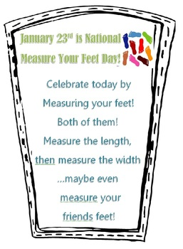 National Measure your Feet Day!