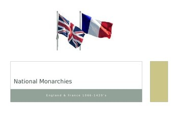 National Monarchies Power Point- England and France 1066-1420