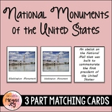 National Monuments 3 Part Cards