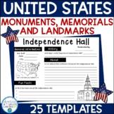National Monuments, Memorials, & Landmark Report Templates