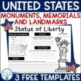 National Monuments, Memorials, & Landmark Report Templates FREEBIE