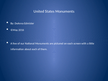National Monuments Powerpoint