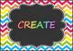 National Music Education Standards - Rainbow Chevron Chalkboard Design