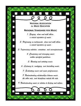 National Music Standards (K-5 NAfME)