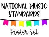 National Music Standards - White & Neon