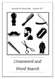 National No Beard Day - October 18th Crossword Puzzle Word Search Bell Ringer