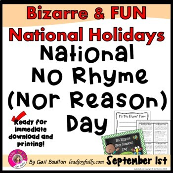 National No Rhyme Nor Reason Day (September 1st)