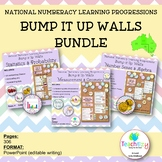 National Numeracy Learning Progressions Bump it Up Wall BUNDLE