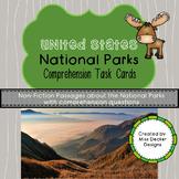 National Park Non-Fiction Comprehension Task Cards