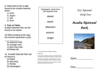National Park Project - Primary Geography and Writing Standards