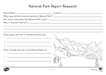 National Park Report