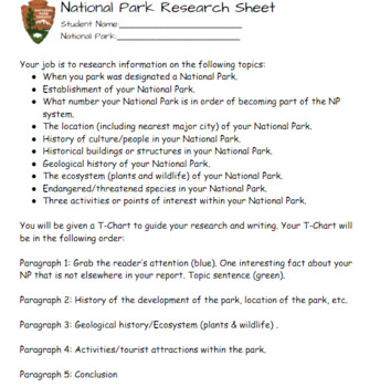 National Park Report Bundle