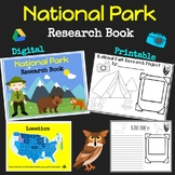 National Park Research Book: Travel Guide: End of School