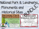 National Park & U.S. Landmarks, Monuments and Historical Sites Research BUNDLE